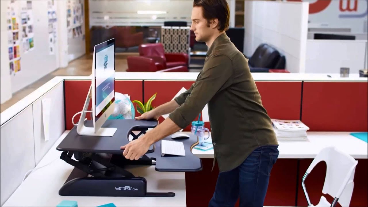 Charmant Varidesk Pro Plus 30 Sit Stand Desk Converter   YouTube