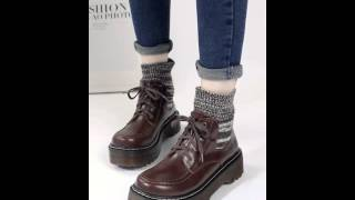 College wild wind sock Martin boots.avi