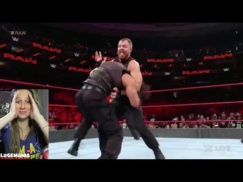 WWE Raw 10/15/18 The Shield vs Braun Dolph and Drew