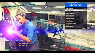 GTA 5 Online - CRAZY MOD MENU Gameplay! - SkyAcro v6 - Script Bypass - (Modded Gameplay)