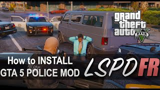GTA 5 Police Mod How to install Like LSPDFR PC Tutorial