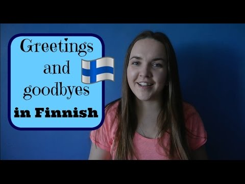 Finnish lesson 1. (Greetings) - Opiskele suomea! - Уроки финского языка.
