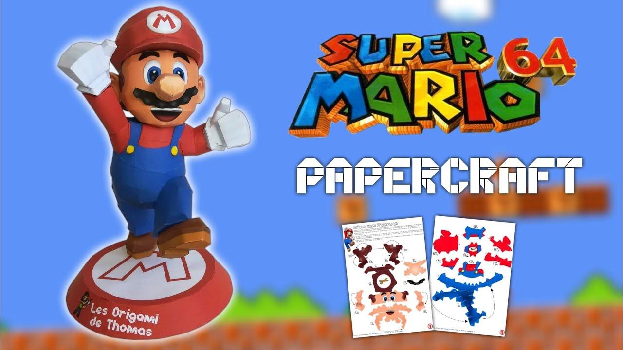 Diy Mario En Papercraft Fabriquer Un Mario En Papier