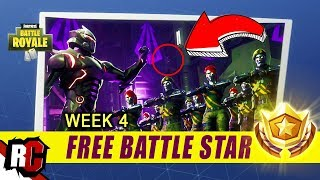 Fortnite | FREE Battle Star Location Week 4 (Blockbuster Challenge / Rocket Base Location)