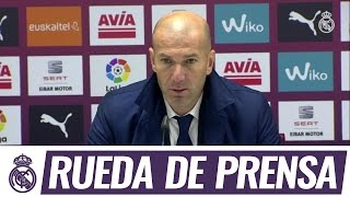 Zidane en la rueda de prensa de Ipurua