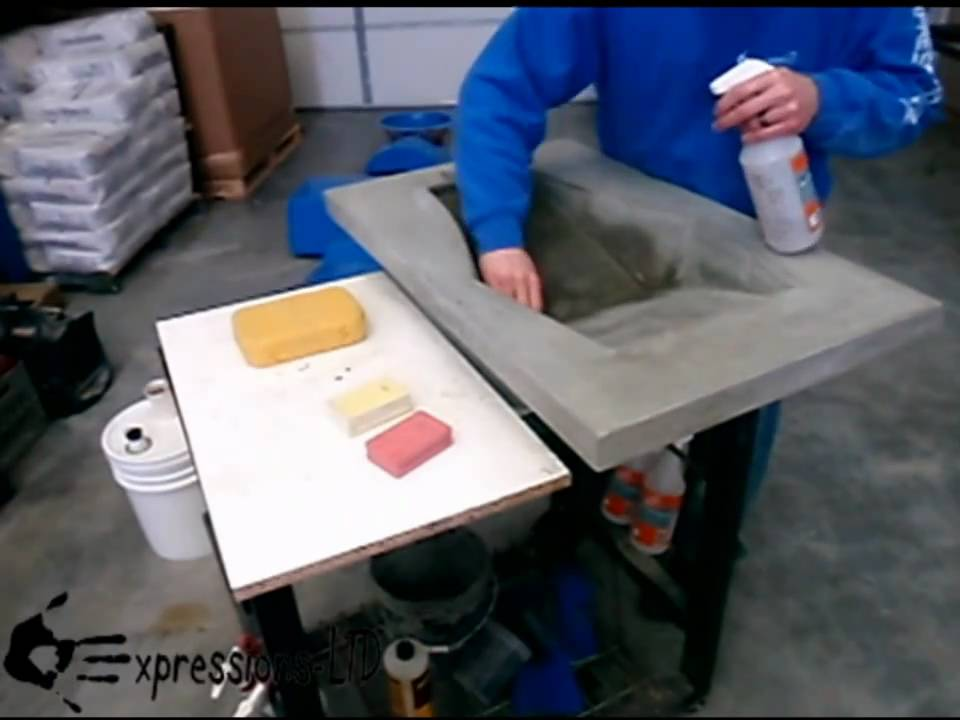 How To Slurry Coat Concrete Countertops