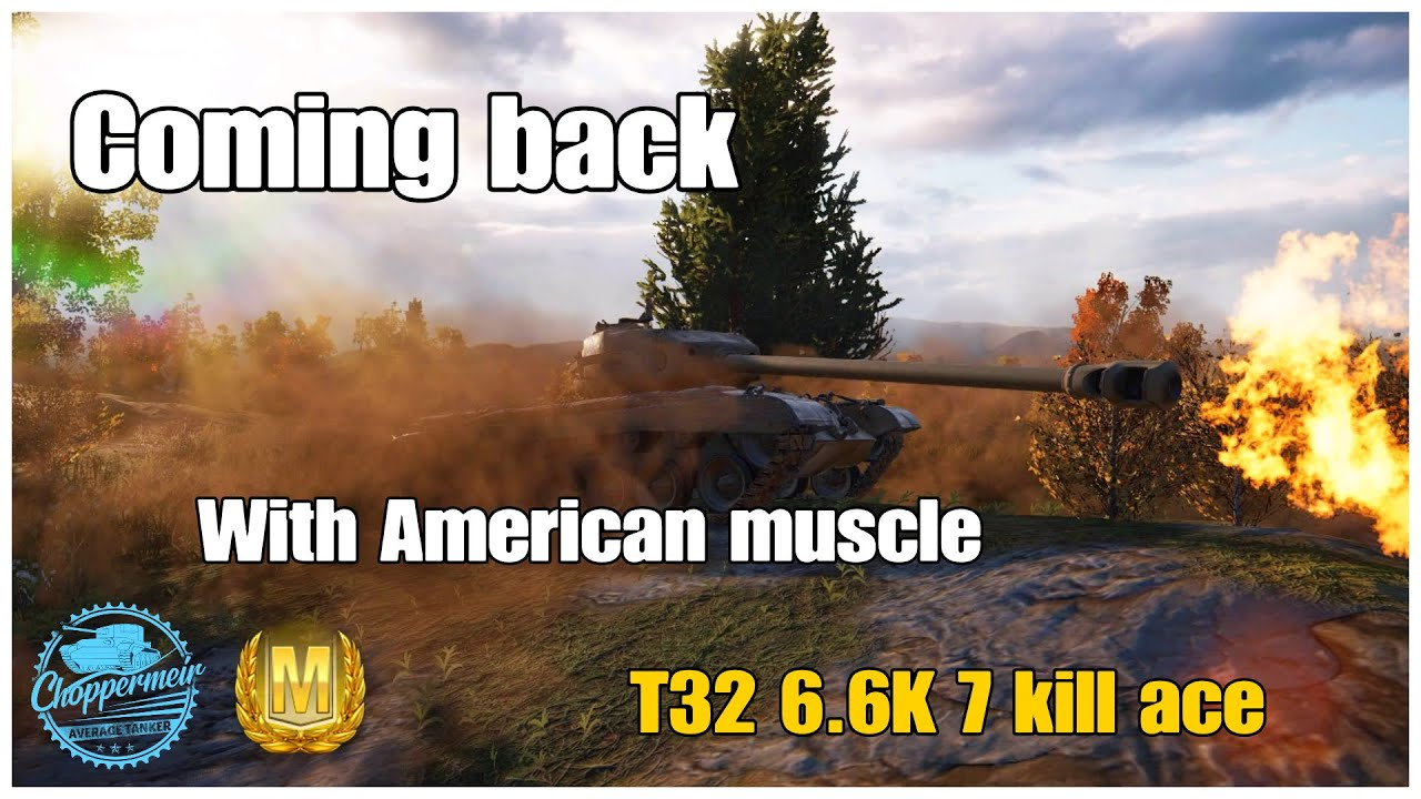 World of Tanks Valor PS4 // T32 5k Ace // Work those ridges + keep fighting