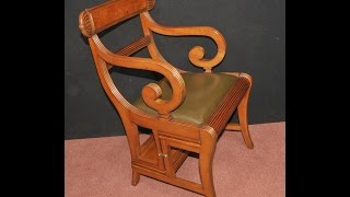 Regency Metamorphic Chair Library Steps
