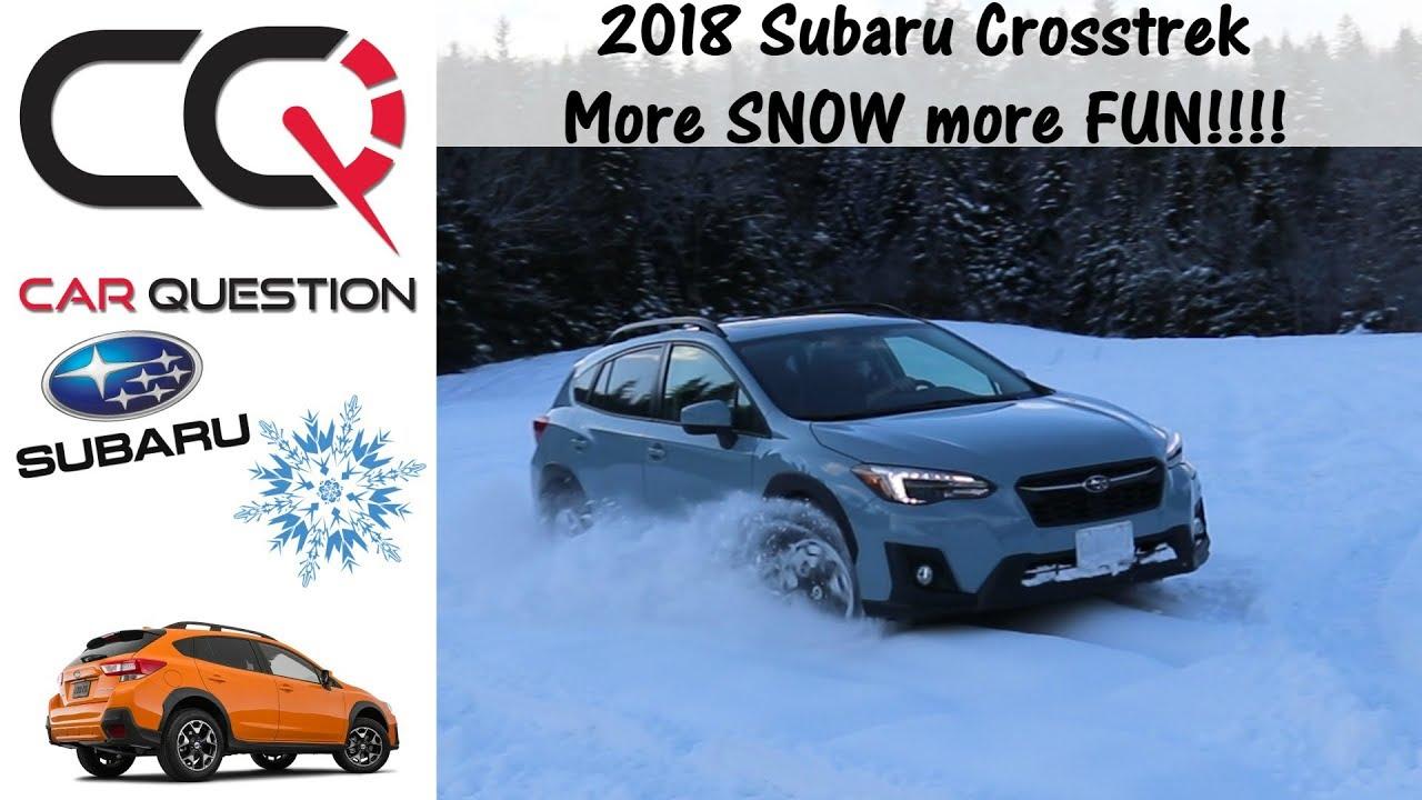 2018 2019 Subaru Crosstrek X Mode Fun In The Snow And Ice Review Part 5 7