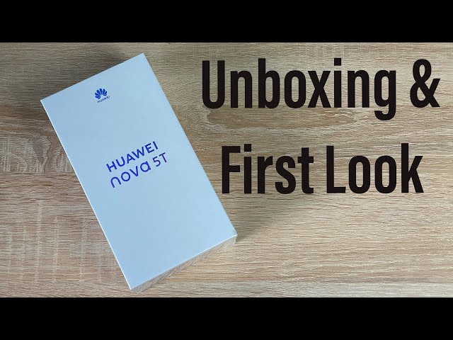 Huawei Nova 5T Unboxing & First Look