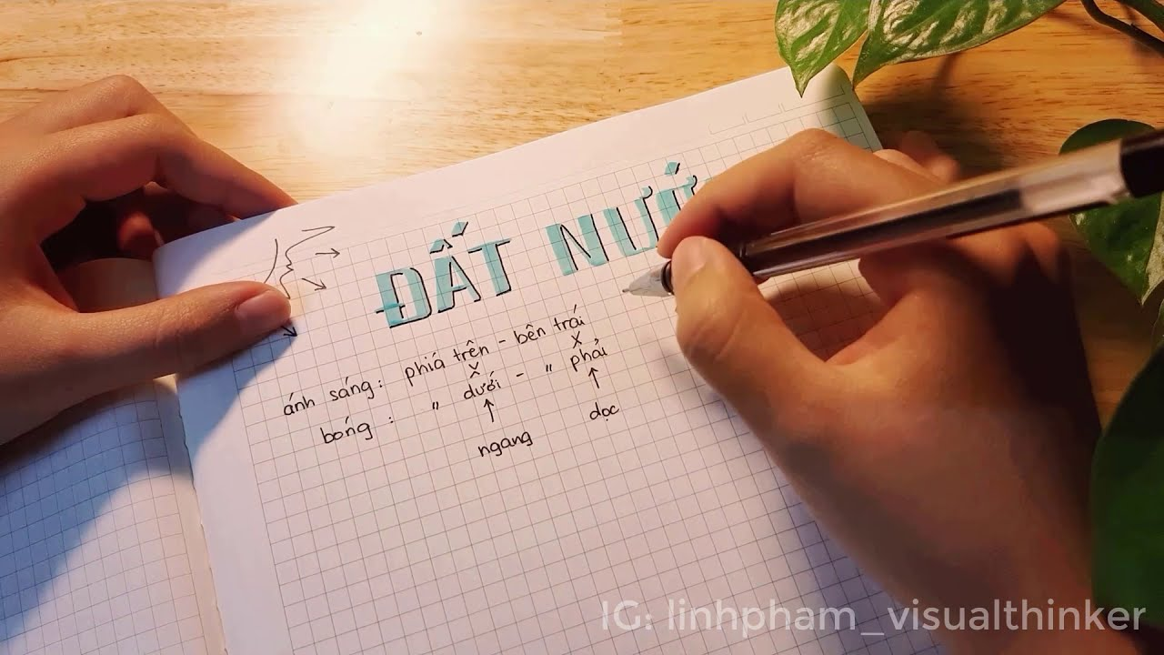 Cẩm nang đổ bóng chữ – How to add shading to your hand lettering & calligraphy