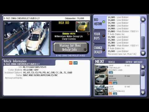 Online Car Dealer Auction for Web Bidders