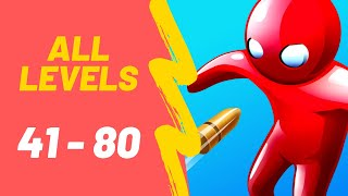 Bullet Man 3D Game All Levels 41-80 Walkthrough