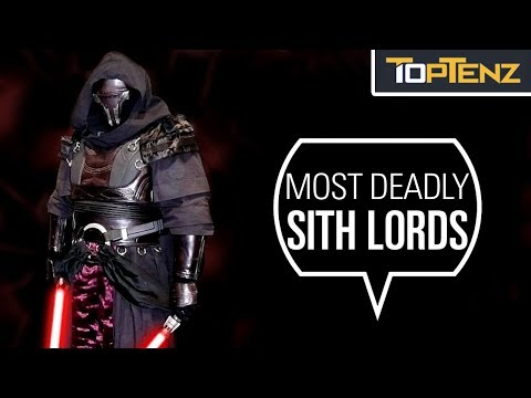 Top 10 Most Dangerous SITH LORDS In The Star Wars Universe