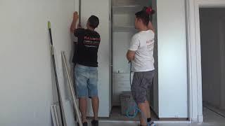 Gambar cover RANNDIA Instalacion de armario (vestidor a medida) Como hacer un vestidor moderno puertas correderas