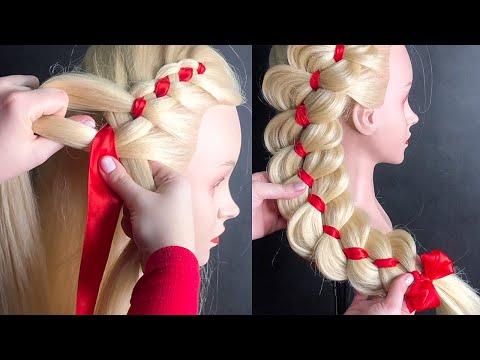 Видеоурок плетение кос с лентой