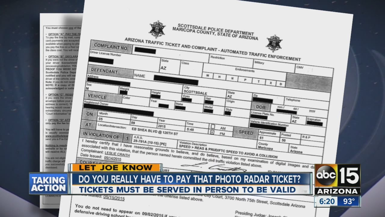 Do you really have to pay for that photo radar ticket?