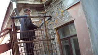 MOV00200  Вот такие ремонты проводят в Тольятти. Стена разрушается а её просто замазывают!!