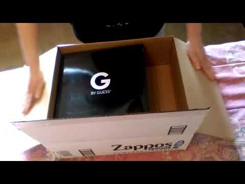 """ASMR Unboxing Women's Boots - G by Guess """"Byson"""" from zappos.com"""