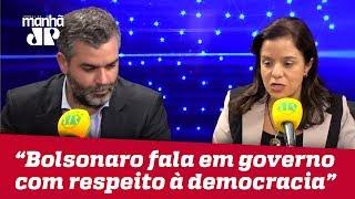'Realista', Bolsonaro fala em governo com respeito pleno à democracia | Vera Magalhães