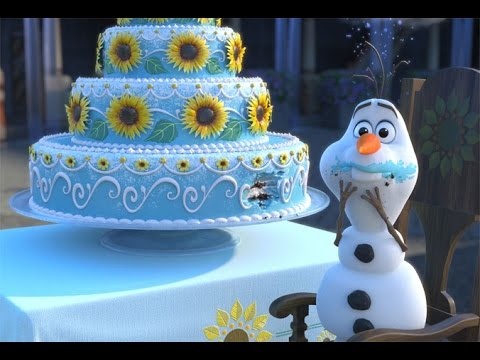Frozen Olaf Eating Cake
