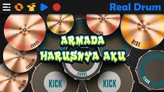 Download Lagu ARMADA - HARUSNYA AKU | REAL DRUM COVER mp3