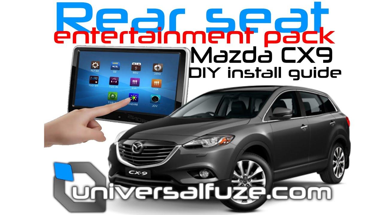 Mazda CX9 Rear seat entertainment DVD USB SD Card player ...