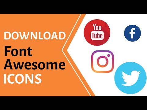 How To Download And Use Font Awesome Icons | Social Media Icons Offline & Online | HTML CSS | Hindi