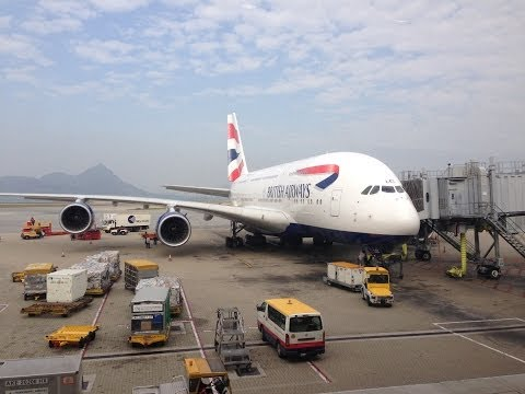 First Class British Airways London to Hong Kong A380 [HD]