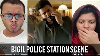 BIGIL Police Station Mass Scene REACTION | Thalapathy Vijay | RECit Reactions