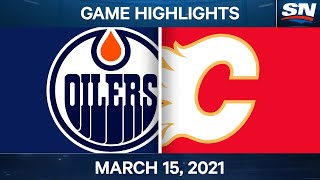 NHL Game Highlights   Oilers vs. Flames – Mar. 15, 2021