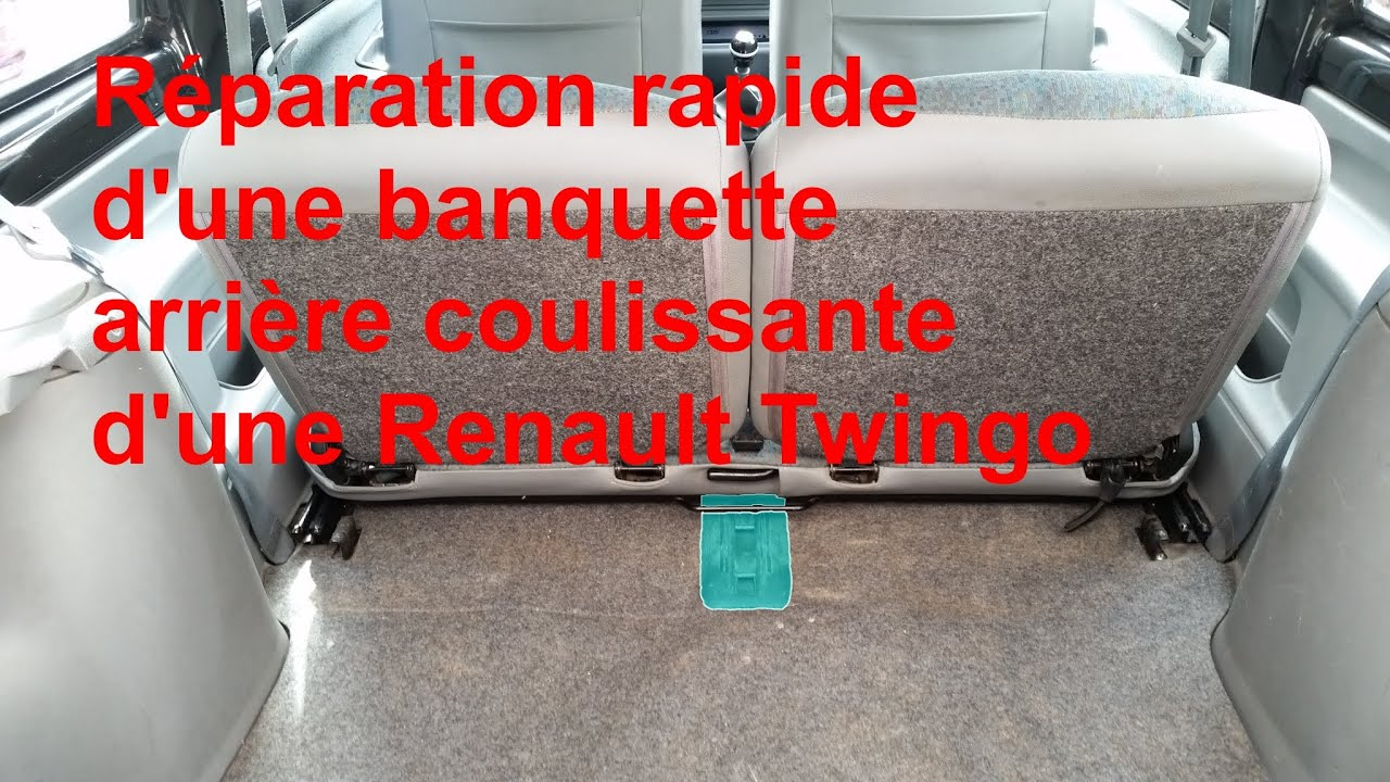 r paration rapide de la banquette arri re de renault twingo 1 youtube. Black Bedroom Furniture Sets. Home Design Ideas