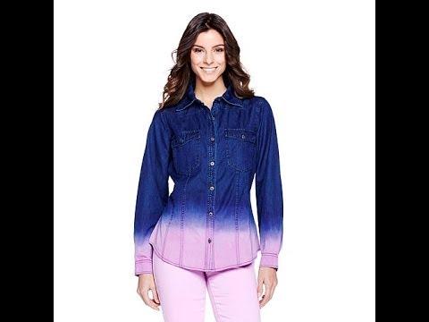 DG2 Ombr ButtonFront Denim Shirt. http://bit.ly/2WDEyq3