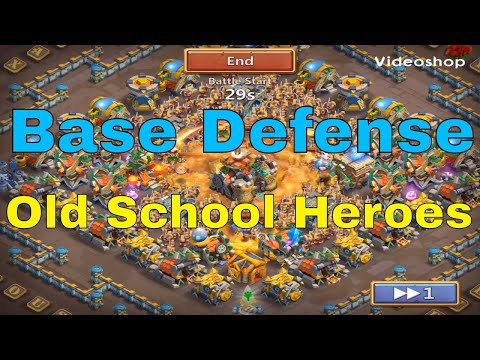 Castle Clash Base Defense With Old School Shard Heroes At BT 30 And Skill 13