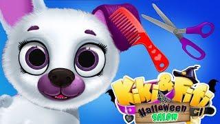 Fun Pet Puppy Animal Care - Kitten Halloween Hair Salon Dress Up Costume Makeover Kids App