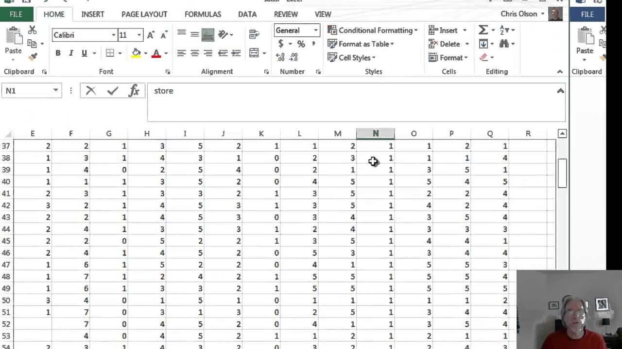 Preparing raw survey data for ANOVA in Excel - YouTube