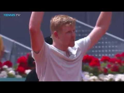 Kyle Edmund hits huge winners en route to win over Djokovic | Mutua Madrid Open 2018