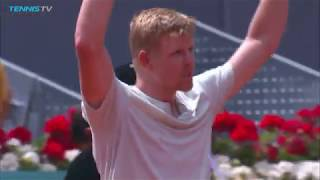 Kyle Edmund hits huge winners en route to win over Djokovic | Mutua Madrid Open 2018