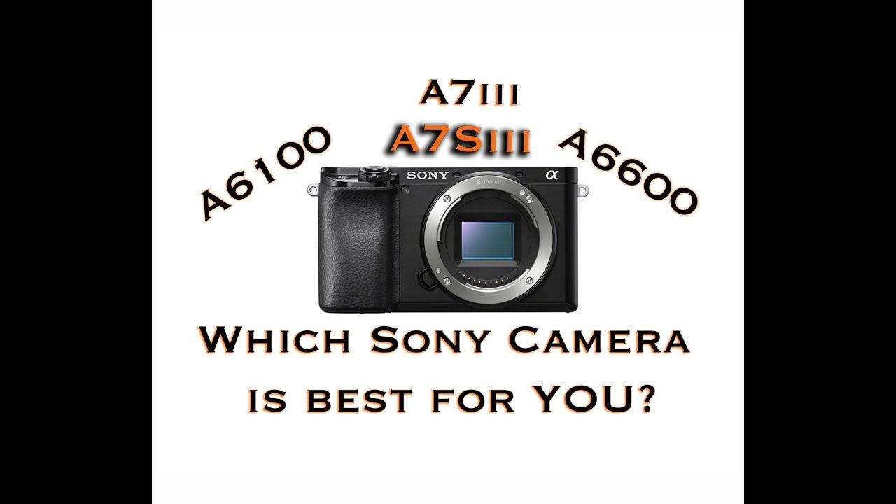 Which Sony Camera is BEST for YOU? A6600, A6100, A7Siii & A7iii, A6000-  Crop & Full Frame