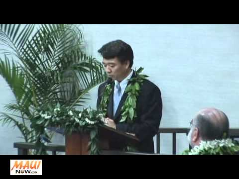 Senate President Shan Tsutsui Keynote address - Maui Council Inauguration - January 3, 2011