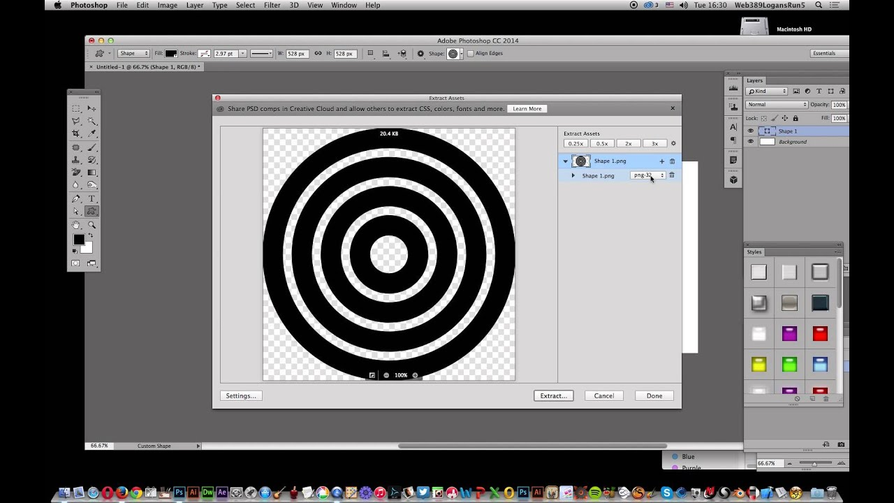 Photoshop CC : Saving SVG in Photoshop (custom shape layers) tutorial