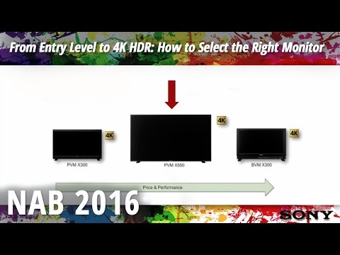 NAB 2016: From Entry Level to 4K HDR: How to Select the Right Monitor