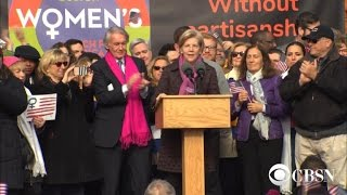 Watch: Elizabeth Warren addresses Women