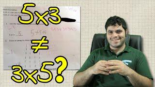 5x3 não é igual a 3x5? - Polêmica numa prova americana! | Matemática Rio