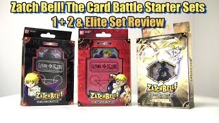 1080p hd zatch bell the card battle starter sets 1 2 elite set review henshin time