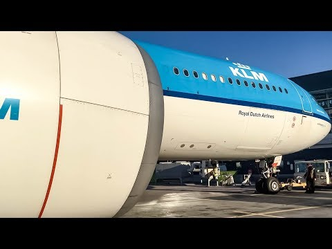 KLM Airbus A330-300 (A333) Ramp Action in Montreal (YUL/CYUL)