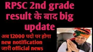 rpsc 2nd grade 12000 पदो पर होगा नया notification जारी