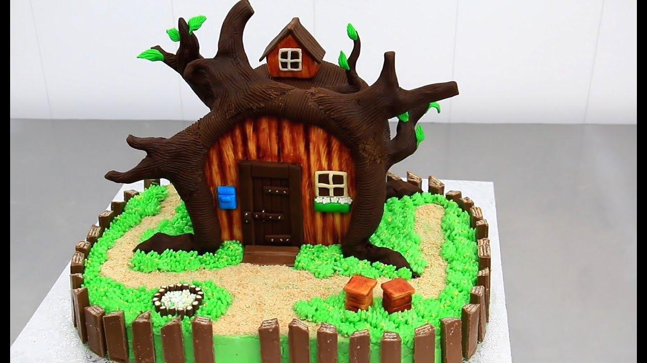 Cara Menghias Rumah Masha And The Bear Chocolate Cake Decorating With Modeling Chocolate By Cakesstepbystep