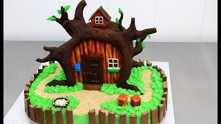 How To Make a CHOCOLATE HOUSE Cake  Decorating with Modelling Chocolate