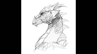 DRAWING A DRAGON (Time-Lapse Video)
